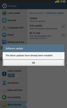 Samsung Galaxy Tab 3 8-0 LTE - Software - Installing software updates - Step 10