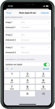 Apple iphone-11-model-a2221 - Applicaties - Account aanmaken - Stap 14