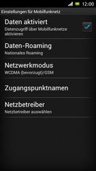 Sony Xperia J - Netzwerk - Netzwerkeinstellungen ändern - Schritt 6