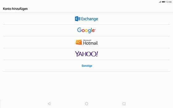 Huawei MediaPad T3 (10.0) LTE - E-Mail - Konto einrichten - 1 / 1