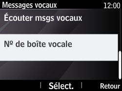 Nokia Asha 210 - Messagerie vocale - Configuration manuelle - Étape 6