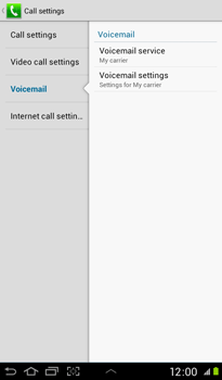 Samsung P3100 Galaxy Tab 2 7-0 - Voicemail - Manual configuration - Step 6