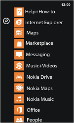Nokia Lumia 800 / Lumia 900 - Getting started - Personalising your Start screen - Step 3