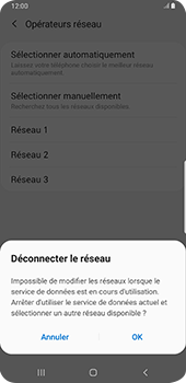 Samsung Galaxy Note9 - Android Pie - Réseau - Sélection manuelle du réseau - Étape 11