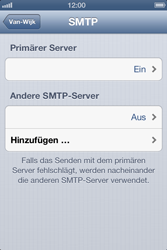 Apple iPhone 4 - E-Mail - Manuelle Konfiguration - Schritt 14