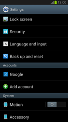 Samsung Galaxy S III LTE - Mobile phone - Resetting to factory settings - Step 4