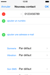 Apple iPhone 4S - Contact, Appels, SMS/MMS - Ajouter un contact - Étape 9