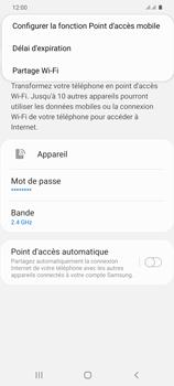 Samsung Galaxy S20+ - Internet et connexion - Partager votre connexion en Wi-Fi - Étape 8