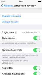 Apple iPhone 5 (iOS 8) - Sécuriser votre mobile - Activer le code de verrouillage - Étape 7