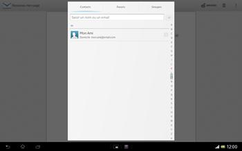 Sony SGP321 Xperia Tablet Z LTE - E-mail - envoyer un e-mail - Étape 5