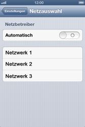 Apple iPhone 4 - Netzwerk - Manuelle Netzwerkwahl - Schritt 7