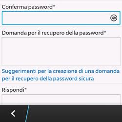 BlackBerry Q10 - Applicazioni - Configurazione del negozio applicazioni - Fase 12