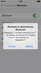 Apple iPhone 5c - Bluetooth - Collegamento dei dispositivi - Fase 8