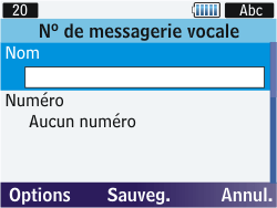 Samsung S3570 Chat 357 - Messagerie vocale - Configuration manuelle - Étape 7