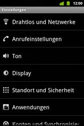 Alcatel OT-983 - Internet und Datenroaming - Manuelle Konfiguration - Schritt 4