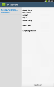 Samsung Galaxy Tab 3 8-0 LTE - MMS - Automatische Konfiguration - 2 / 2