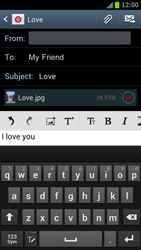 Samsung I9300 Galaxy S III - E-mail - Sending emails - Step 13