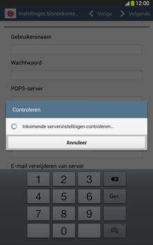 Samsung T315 Galaxy Tab 3 8-0 LTE - E-mail - Account instellen (POP3 zonder SMTP-verificatie) - Stap 10