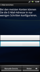 Sony Ericsson Xperia Arc S - E-Mail - Konto einrichten - 2 / 2