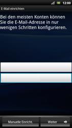 Sony Ericsson Xperia Arc S - E-Mail - Konto einrichten - Schritt 6