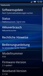 Sony Ericsson Xperia X10 - Software - Update - Schritt 5