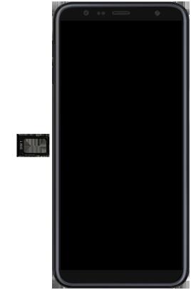 Samsung Galaxy J6 Plus - Toestel - simkaart plaatsen - Stap 4