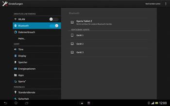 Sony Xperia Tablet Z LTE - Bluetooth - Geräte koppeln - Schritt 8