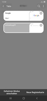 Samsung Galaxy Note 20 Ultra 5G - Internet und Datenroaming - Verwenden des Internets - Schritt 19