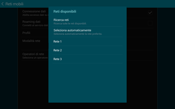 Samsung T805 Galaxy Tab S - Rete - Selezione manuale della rete - Fase 9