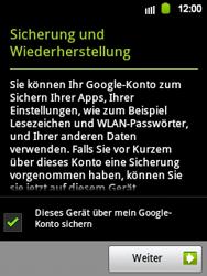 Samsung Galaxy Y - Apps - Konto anlegen und einrichten - 17 / 21