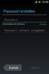 Sony Xperia Miro - Apps - Konto anlegen und einrichten - 1 / 1