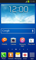 Samsung Galaxy Trend Lite - Getting started - Installing widgets and applications on your start screen - Step 1