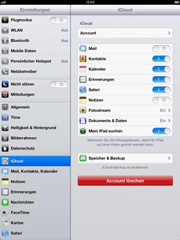 Apple iPad Retina iOS 7 - Apps - Konfigurieren des Apple iCloud-Dienstes - Schritt 10