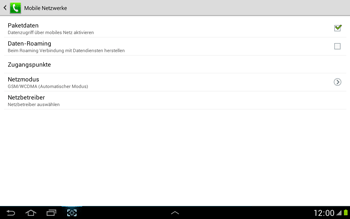 Samsung N8000 Galaxy Note 10-1 - Ausland - Im Ausland surfen – Datenroaming - Schritt 8