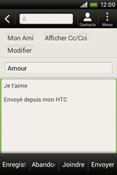 HTC A320e Desire C - E-mail - envoyer un e-mail - Étape 9