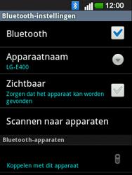 LG E400 Optimus L3 - bluetooth - headset, carkit verbinding - stap 7