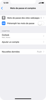 Apple iPhone X - iOS 12 - E-mail - Configuration manuelle (outlook) - Étape 10