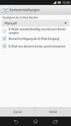 Sony Xperia Z - E-Mail - Manuelle Konfiguration - Schritt 13