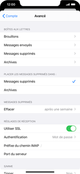 Apple iPhone XS Max - iOS 13 - E-mail - Configuration manuelle - Étape 25
