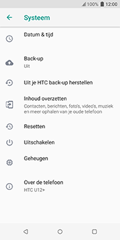 HTC u12-plus-2q55200 - Instellingen aanpassen - Fabrieksinstellingen terugzetten - Stap 5