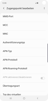 Samsung Galaxy S10 - MMS - Manuelle Konfiguration - Schritt 12