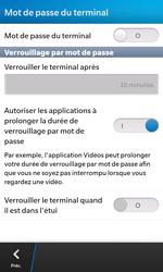 BlackBerry Z10 - Sécuriser votre mobile - Activer le code de verrouillage - Étape 6