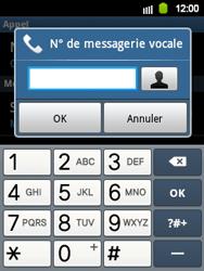 Samsung S5360 Galaxy Y - Messagerie vocale - Configuration manuelle - Étape 6