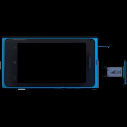 Nokia Lumia 800 - SIM-Karte - Einlegen - Schritt 5