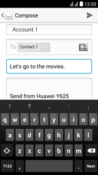 Huawei Y625 - E-mail - Sending emails - Step 9