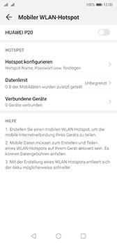 Huawei P20 - Android Pie - WiFi - So aktivieren Sie einen WLAN-Hotspot - Schritt 13