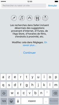 Apple iPhone 6s Plus iOS 10 - Internet - navigation sur Internet - Étape 3