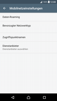 Sony Xperia XA Ultra - Ausland - Im Ausland surfen – Datenroaming - 8 / 14