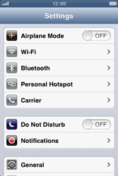 Apple iPhone 3GS - WiFi - WiFi configuration - Step 3