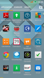 Alcatel One Touch Idol Mini - Operazioni iniziali - Installazione di widget e applicazioni nella schermata iniziale - Fase 3
